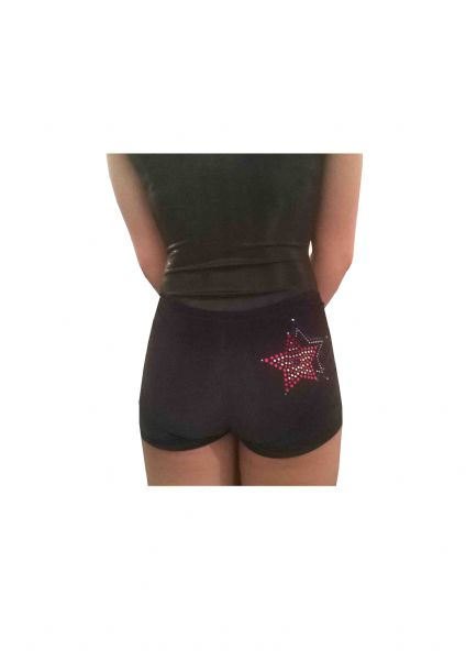 EARL128 Plain and Personalised Metallic and Velour Shorts With Star Spangle Motif  From £18.95